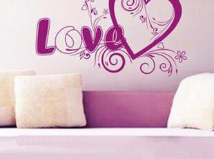浪漫墙贴 结婚喜字喜庆婚庆 婚房装修 婚房装饰 爱心花纹 WS184,墙贴/开关贴,