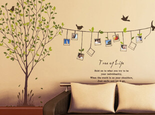 纪念树墙贴 客厅卧室橱窗 相片树墙贴 相框贴照片树 生命树 WS664,墙贴/开关贴,
