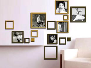 空间艺术立体墙贴正方框浮雕水晶照片墙沙发墙电视墙卧室创意小号,墙贴/开关贴,
