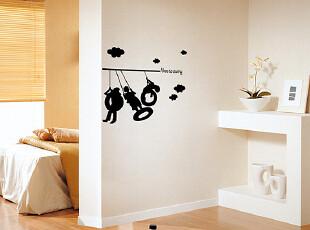 HYUNDAE环保自粘DIY卡通墙贴 客厅卧室电视背景墙贴纸 家具装饰贴,墙贴/开关贴,