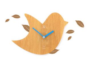 12.2【韩国家居】墙贴式 飞鸟造型静音挂钟/壁钟,墙贴/开关贴,