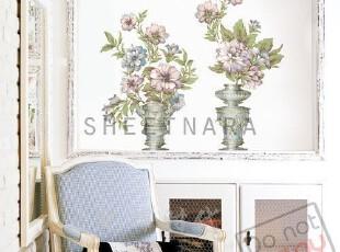 韩国正品*复古花瓶*自粘仿油画墙贴瓷砖贴-玻璃贴-欧式简约即时贴,墙贴/开关贴,