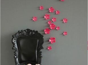 韩国代购 立体粉红色花朵墙贴壁贴家居装饰立体墙贴,墙贴/开关贴,