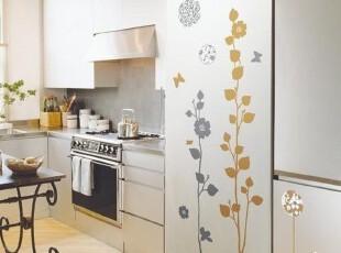 金银花树*韩国进口自粘墙贴瓷砖贴玻璃贴冰箱贴-时尚简约浪漫装饰,墙贴/开关贴,