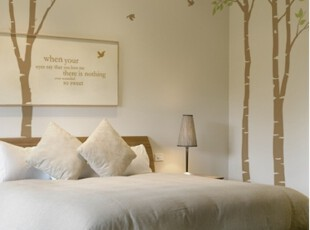 【Asa room】韩国进口代购壁贴 田园梦的树林卧室DIY墙纸墙贴a302,墙贴/开关贴,