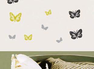 四皇冠第三代可移除高档反复贴墙贴画贴纸大气客厅玻璃贴双面蝴蝶,墙贴/开关贴,
