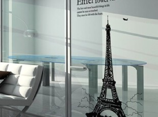 【Asa room】韩国进口代购壁贴 时尚埃菲尔铁塔创意DIY墙贴 a344,墙贴/开关贴,