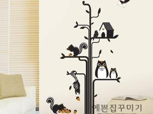 *韩国进口*森林树屋*自粘卡通儿童房墙贴/壁贴/家具瓷砖贴/玄关贴,墙贴/开关贴,