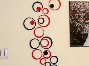 波尔卡圆环立体墙贴 墙饰 壁饰 电视背景墙 璧贴卧室客厅墙面装饰,墙贴/开关贴,