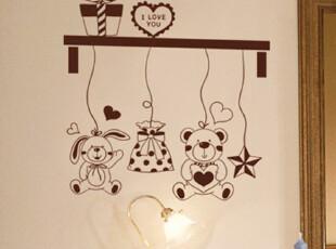 浪漫家居装饰墙贴 客厅 沙发墙电视背景墙儿童房卧室温馨浪漫墙贴,墙贴/开关贴,