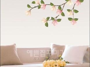红木棉花*韩国进口自粘墙贴玄关贴客厅卧室床头沙发电视背景贴纸,墙贴/开关贴,