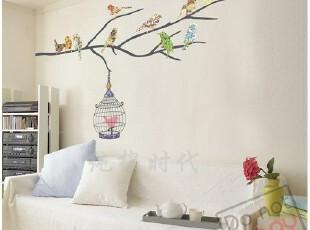 [自由鸟]韩国正品自粘客厅沙发电视背景墙贴/家具贴/树贴/即时贴,墙贴/开关贴,