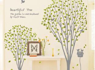『韩国进口贴纸』B798 美丽的同心树 PVC墙贴/装饰贴 五色可选,墙贴/开关贴,