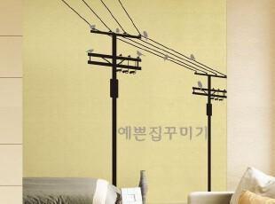 冲5钻-韩国进口简约时尚装饰-瓷砖贴-客厅沙发背景墙贴-乡村之歌,墙贴/开关贴,