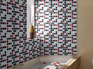 PVC自粘墙纸 马赛克特价壁纸客厅厨房卫生间浴室防水格子墙贴纸,墙贴/开关贴,