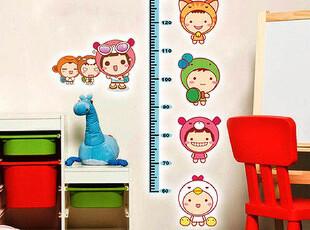 可移除墙贴 儿童卧室装饰贴纸幼儿园墙纸卡通家居饰品 娃娃身高贴,墙贴/开关贴,