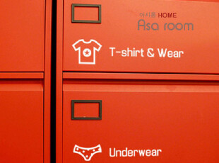 【Asa room】韩国进口壁贴正品 DIY创意衣橱衣柜小贴纸白色a514-w,墙贴/开关贴,