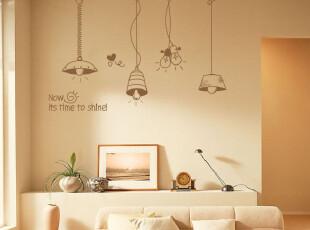 可爱吊灯沙发墙卧室墙面儿童墙贴电视墙背景墙帖贴纸,墙贴/开关贴,