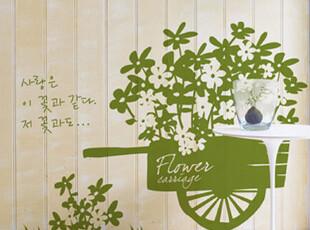 【Asa room】韩国进口代购壁贴  田园可爱的花朵客厅创意墙贴a308,墙贴/开关贴,