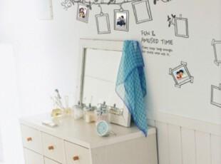 橙之恋一代墙贴 小鸟相框 照片墙贴客厅卧室沙发背景卡通房墙贴,墙贴/开关贴,