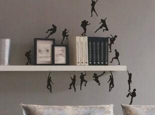 出口品质 个性创意墙贴 书房工作室【攀爬兵团】一套17人,墙贴/开关贴,