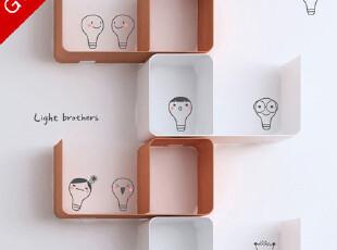 果果墙贴商城店新款- 创意韩国艺术墙贴纸墙饰◆可爱灯泡一家◆,墙贴/开关贴,