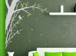 大幅墙贴 树 韩式高档客厅 电视墙 背景意境【林语】带文字,墙贴/开关贴,