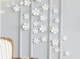 韩国家居代购白色花朵 立体墙贴 壁贴 装饰墙贴 冰箱贴,墙贴/开关贴,