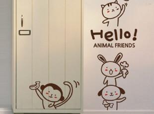 [可爱小动物]NOYES 墙面|贴画|贴纸|墙贴|客厅|儿童|背景电视墙,墙贴/开关贴,