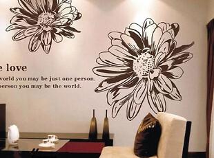 创意 儿童 树花 纸贴 客厅 卧室 背景 墙贴纸 墙贴  波斯菊,墙贴/开关贴,