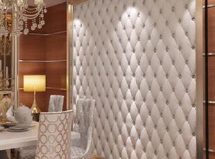 白色仿皮仿软包现代简约超强立体感壁纸  客厅卧室电视背景墙纸,壁纸/墙纸,