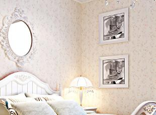 异度壁纸 特价墙纸 卧室客厅满铺田园小碎花墙纸 环保无纺布珠光,壁纸/墙纸,