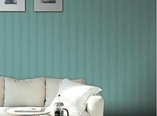 清新暗纹竖条纹.韩国进口16.5平PVC纯色素色客厅卧室满铺墙纸壁纸,壁纸/墙纸,