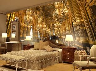 T空间元素大型壁画 欧式奢华立体壁纸 客厅沙发书房卧室背景墙纸,壁纸/墙纸,