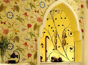 布鲁斯特正品美国进口纯纸墙纸 客厅卧室背景壁纸 空山新雨 80803,壁纸/墙纸,