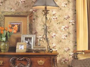 布鲁斯特风格 欧式墙纸 田园 卧室客厅沙发背景壁纸 ILLI 83084,壁纸/墙纸,