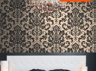 玛尚 欧式经典 大马士革无纺布墙纸 客厅电视墙壁纸122HB,壁纸/墙纸,