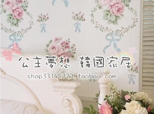 ★公主梦想★韩国家居*田园风*壁纸风格装饰卷帘(含装置) M1290,壁纸/墙纸,