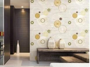 时尚彩色大圆圈/韩国代购壁纸/简约现代客厅电视墙背景墙纸/三色,壁纸/墙纸,