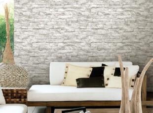 韩国正品墙纸/仿文化石背景壁纸/浅灰仿砖纹.灰白砖头/另有深灰色,壁纸/墙纸,
