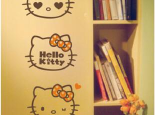 时尚创意墙贴 卡通儿童房墙贴客厅卧室背景壁纸 贴纸 Kitty头像,壁纸/墙纸,