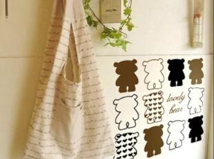 【艾莱美家】墙贴熊房间装饰客厅卧室沙发儿童房背景墙纸家居装饰,壁纸/墙纸,
