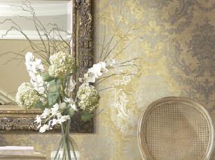 布鲁斯特墙纸 凯旋之光 大马士革壁纸 VA60017 客厅背景 现货特价,壁纸/墙纸,