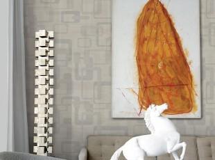 韩国进口灰色现代简约几何抽象客厅卧室电视沙发背景墙纸PVC壁纸,壁纸/墙纸,