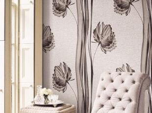 清馨花影/韩国进口壁纸/新古典浪漫大花竖排客厅沙发卧室背景墙纸,壁纸/墙纸,
