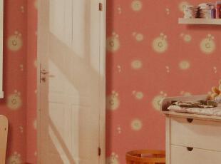 致尚空间墙纸 儿童房壁纸 可爱卡童 粉色公主房 儿童卧室 2029-3,壁纸/墙纸,