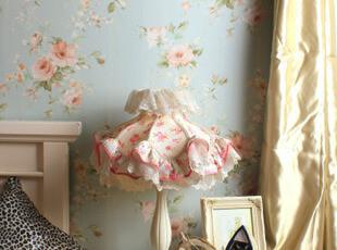 墙纸美式田园风格 地中海客厅卧室电视背景墙 浪漫温馨大花壁纸T,壁纸/墙纸,