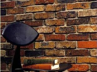 日本进口墙纸代购龙冉RUNON原装 超逼真红色砖头压花壁纸,壁纸/墙纸,