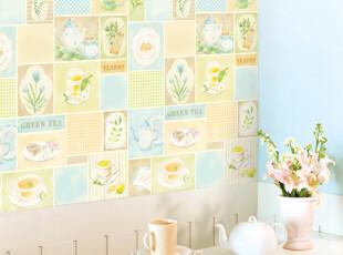 Magic fix韩国进口自粘壁纸 厨房餐厅自贴墙纸 波音软片DPS格子盘,壁纸/墙纸,