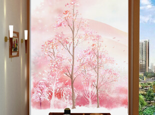大型壁画 玄关背景墙 墙纸 壁纸 现代客厅卧室 樱花树 g362,壁纸/墙纸,
